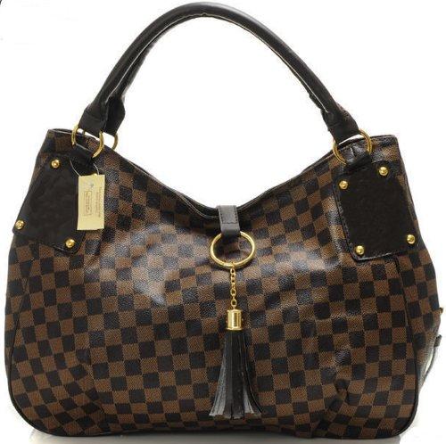 Bushels Handbags Inspired Brown Women Tote Designer Handbags Pu Leather
