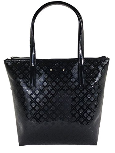 Kate Spade Jeralyn Emerald Avenue Tote Patent Black
