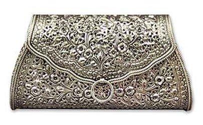 Sterling silver handbag, 'Kanok Elegance'