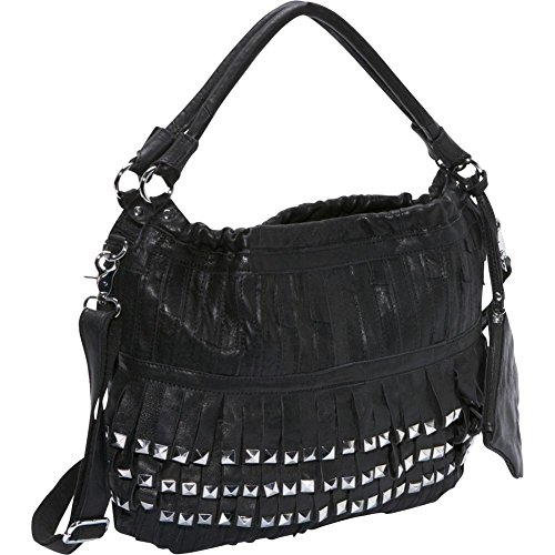AmeriLeather Studded Tutu Leather Hobo