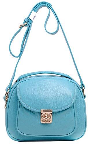 Heshe Soft Genuine Leather Cross Body Shoulder Hand Carry Bag Handbag for Women