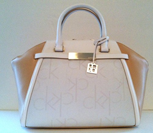 Calvin Klein Addie Dome Satchel Handbag (Bare)