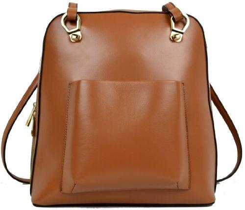 Heshe New Women Real Genuine Leather Backpack Purse Shoulder Messenger Sling Hand Bag