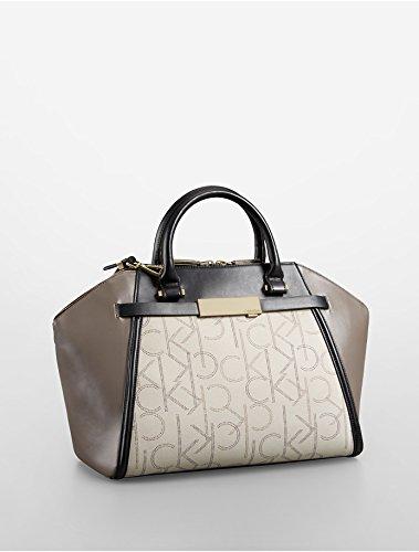 Calvin Klein Addie Dome Satchel Handbag (Granite)