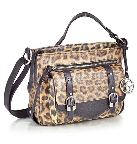 Jessica Simpson Dakota Top Zip, Leopard Black
