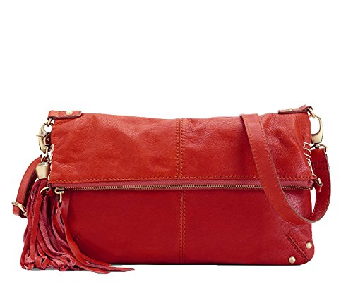 Lucky Brand Del Rey Leather Fold-over Crossbody, Red