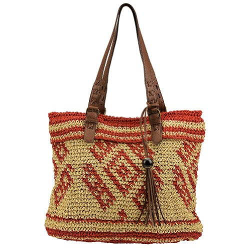 Lucky Brand Sierra Tote (Sand/Cayenne)
