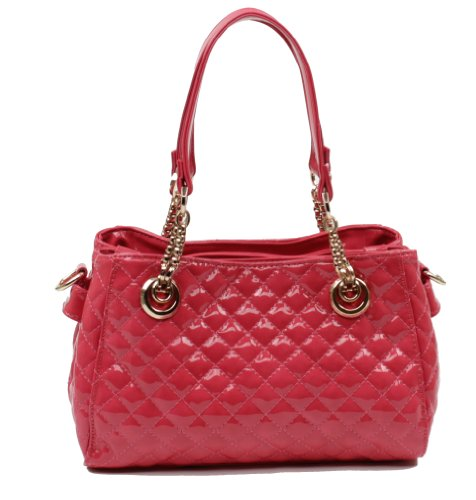 Scarleton Quilted Patent Satchel H1049