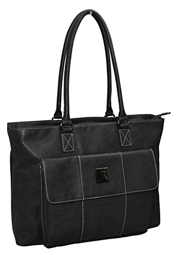 Kenneth Cole Reaction Women's Business Top Zippered Padded Computer Tote for Computer Up To 16″ – Charcoal