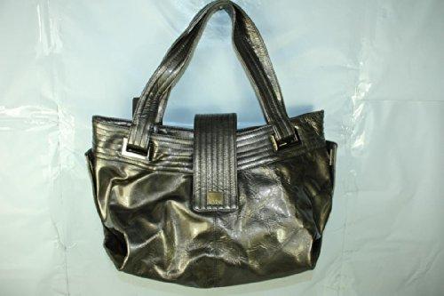 Kooba Natasha Leather Bag Purse Handbag in Silver