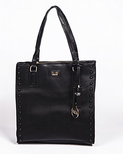 BCBG PARIS Handbag Stuffed Bag Black, Stylish Bag, Regular Size, 2014/2015 Collection[Apparel],Available on different Colors