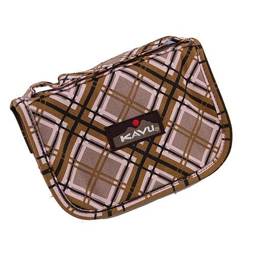 Kavu Odds & Ends Wallet Clutch Bag Pink Plaid 968-40