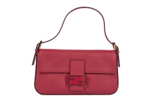 Fendi women's leather shoulder bag original baguette bordeaux