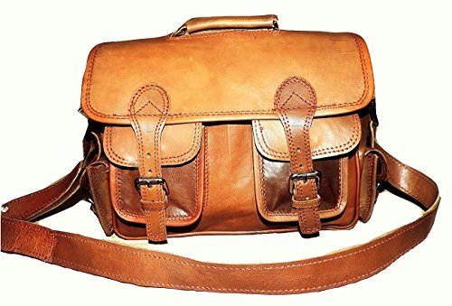 Vivido Handmade Rugged Vintage Pure Leather Briefcase / Satchel / Messenger / Flight Bag