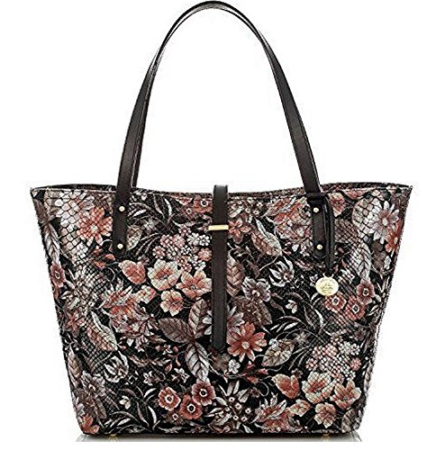 Brahmin Medium Asher Black Bohomia Genuine Leather Tote