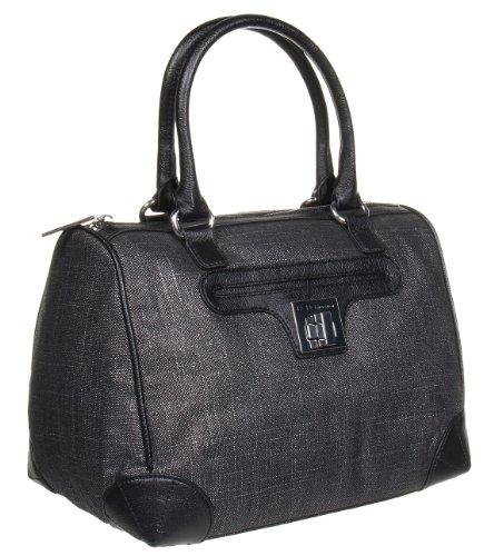 BCBGeneration Black Combo Linnea Satchel Handbag