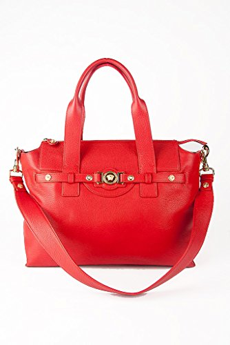 Versace Collection Leather Signature Medusa Shoulder Bag
