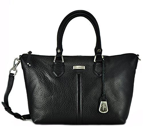 Cole Haan Village II Zip Satchel Handbag, Black, One Size