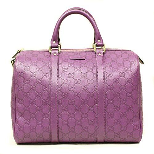 Gucci 362720 Gucci Joy Boston Satchel Bag Purple Plum Leather