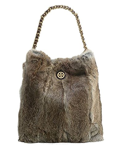 Tory Burch Fur Hobo Shoulder Bag, Natural /Coconut