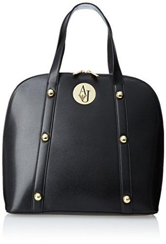 Armani Jeans V4 Large Stud Bugatti Shoulder Bag,Black,One Size