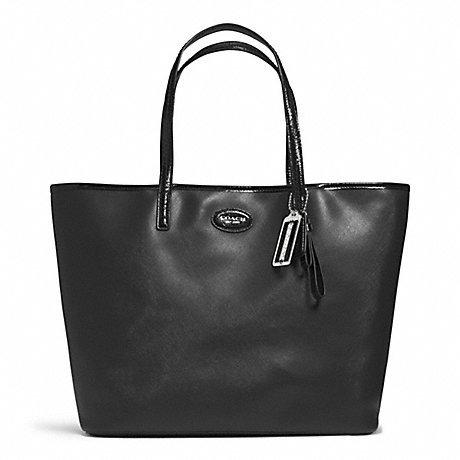 Coach Metro Saffiano Leather Tote Bag Black 31326