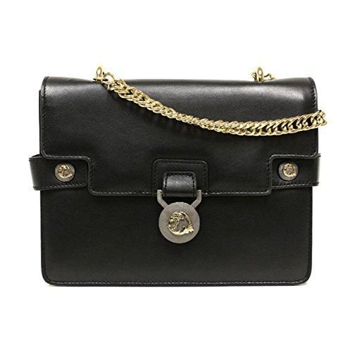 Versace Collection Black Leather Crossbody Handbag 796438