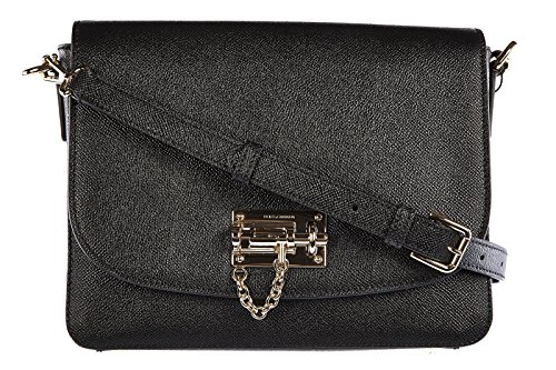 DOLCE&GABBANA women's leather cross-body messenger shoulder bag black