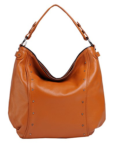 Heshe New Genuine Leather Lady's Casual Fashion Top Handle Tote Crossbody Shoulder Bag Satchel Purse Handbag for Women