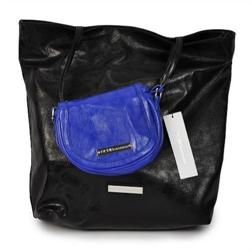 BCBGeneration Tote with Crossbody Duo – Black & Blue