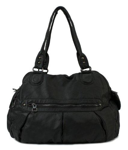 Scarleton 3 Compartment Washed Shoulder Bag H1340