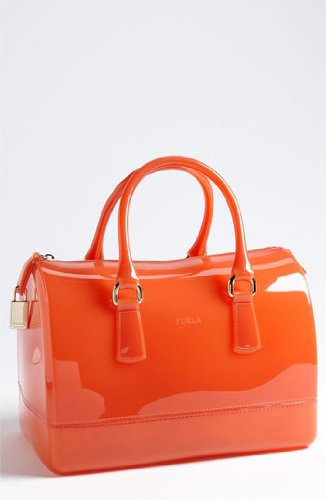 Furla Candy M Bauletto Gomma Satchel (Belletto – Light Peach)