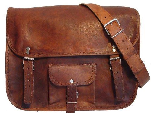 Gusti Leder nature Genuine Leather Satchel Messenger Casual Uni College Smart Office Business Laptop Vintage Bag Unisex Brown U1