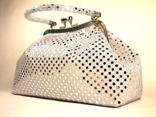 Handbag by WiseGloves Eve Metallic Silver Handbag Purse Evening Clutch Dress