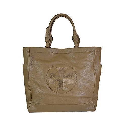 Tory Burch Kipp Pebbled Leather Shoulder Bag Tote Sand Dollar