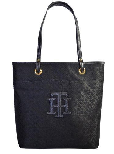 Tommy Hilfiger TH Logo Handbag Tote Black