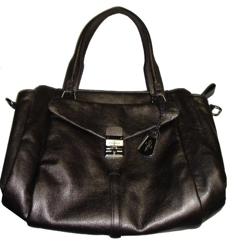 Cole Haan Women's Hannah EW Satchel Handbag, Gunsmoke