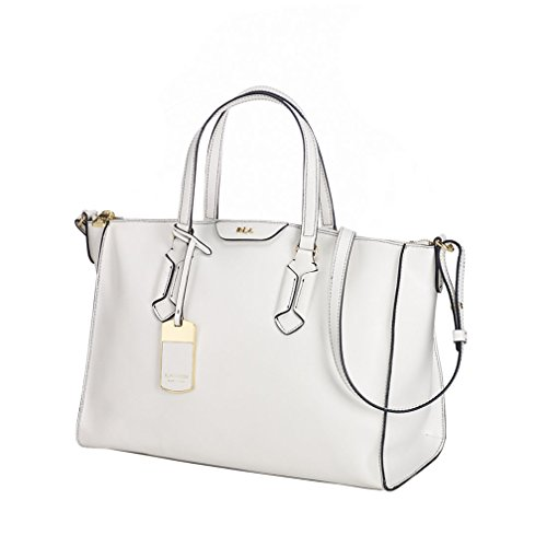 LAUREN by Ralph Lauren Women's Tate Convertible Satchel Optic White/Black