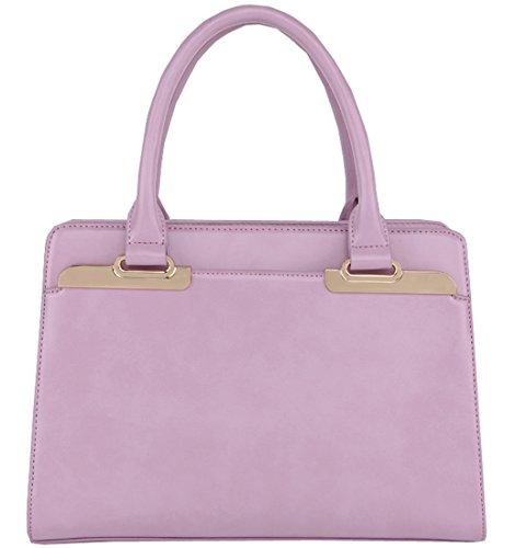 Heshe Genuine Leather New OL Casual Fashion Top Handle Tote Shoulder Crossbody Bag Satchel Purse Women's Handbag