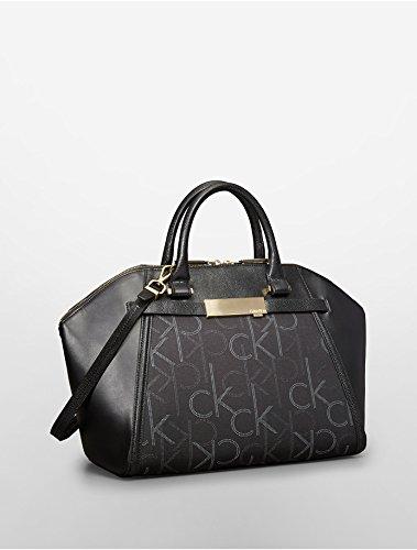Calvin Klein Addie City Dome Satchel Bag (Black)