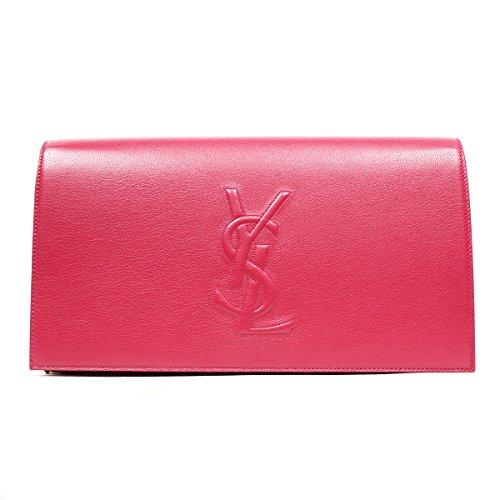 Yves Saint Laurent Ysl Belle De Jour Large Hot Pink Clutch Bag 361120