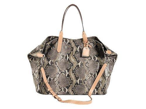 Cole Haan Crosby Snake Ironstone Leather Large Handbag Purse Bag NEW