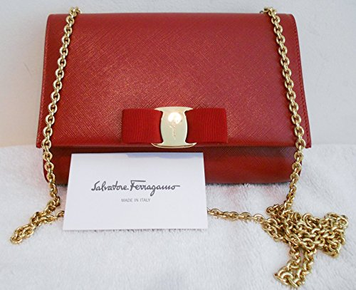 Salvatore Ferragamo Mini Bag – Miss Vara Bow Red Gold