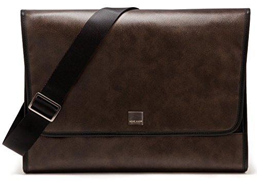 Acme Made Clutch in with Designer Coated-Canvas  Exterior Notebook Shoulder Bag, Brown