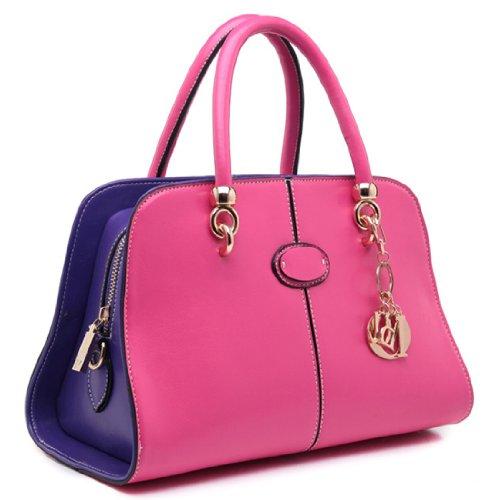 Heshe Women's Pu Faux Leather Doctor Style Tote Cross Body Shoulder Bag Satchel Handbag