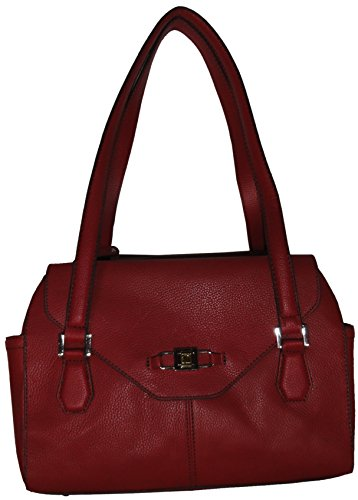 Tignanello Women's Genuine Leather, All Day Long Satchel, Rouge