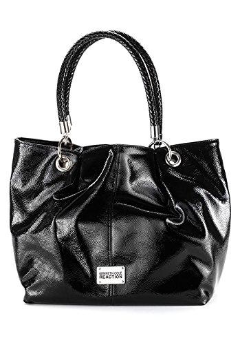Kenneth Cole Reaction Islander Shopper Handbag Purse Black