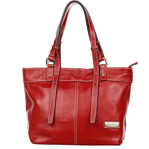 aretha Daily Top Handle Genuine Italy Leather Satchel Handbag