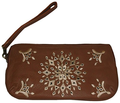 Lucky Women's Casbah Leather Wristlet, Color Cognac, Size 8.5″X5″