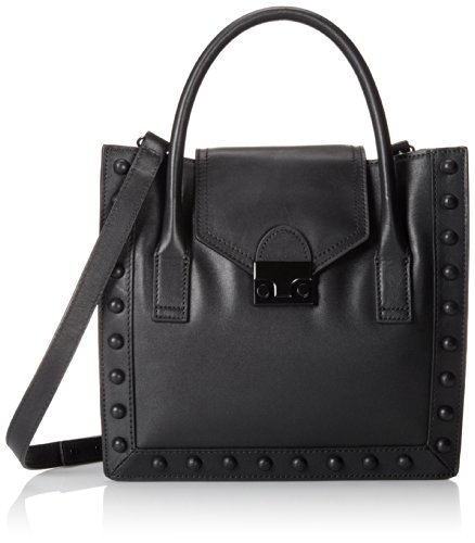 LOEFFLER RANDALL JR Leather Work Tote,Black,One Size